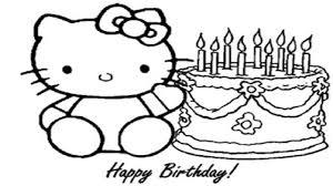 Kitty Cartoon Drawing How To Draw Hello Kitty And Birthday Cake