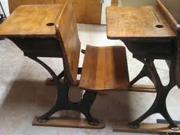 wooden school desk and chair. Vintage School Desk With Chair Attacheddesk Old Chairs Kid Wooden And E