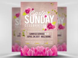Easter Sunday Celebration Service Flyer Template - Flyerheroes