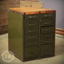 Convert Cabinet To File Drawer Vintage Steel 11 Drawer Butcher Block Cabinet Island Counter