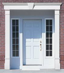 front door trim kitVinyl Door Surrounds Fypon Entrance Systems Pilasters and