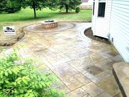 patio raised concrete patio ideas installing first course of retaining on a budget decor pat
