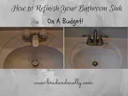 amazing ideas refinish bathroom sink refinishing a bathroom sink not with haste modern design refinish bathroom sink