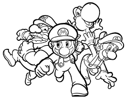 Mario Bros Kleurplaat 2