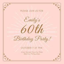 Customize 40 40th Birthday Invitation Templates Online Canva Cards Unique Online Birthday Invitations Templates
