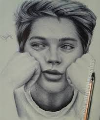 black and white realistic ballpoint pen drawings