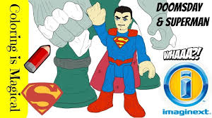 Enter youe email address to recevie coloring pages in your email daily! Doomsday Sneaks Up On Superman Coloring Page Video Imaginext