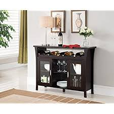 wine rack console table. Kings Brand Furniture Wine Rack Buffet Server Console Table With Glass Doors, Espresso