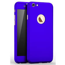 iphone 5 5s se 360 full protection case tempered glass blue