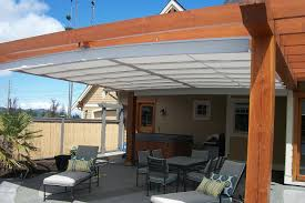 patio awning side panels awesome staying track retractable canopy track systems