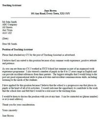 Teacher Assistant Cover Letter Samples Cover Letter Example Of A Teacher With A Passion For Teaching Job
