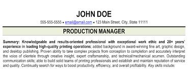 resume print resume for printing industry print shop resume ihireprinting