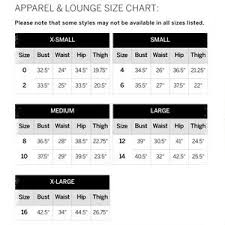 Vs Pink Size Chart Victoria Secret Pink Clothing Size Chart
