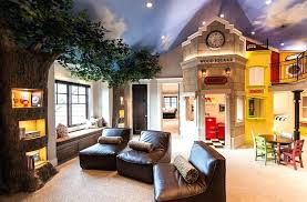 view in gallery amazing kids room design with tree trunk shelves and painted ceiling mountain rooms