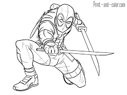 Small Picture Deadpool Coloring Pages Sniper Colouring Print nebulosabarcom