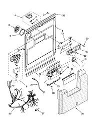 Kenmore elite dishwasher parts diagram door and latch modern day kenmore elite dishwasher parts diagram door
