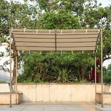 garden canopy. IKayaa 3*2.5*2.5M Metal Patio Garden Gazebo Outdoor Canopy