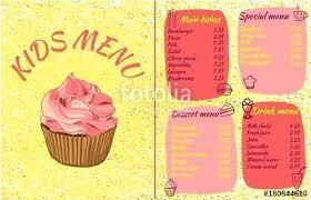 Bakery Cupcake Shop Menu Template Design Bakery Cupcake Shop Flyer