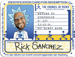 Make Your Own Identification Card Make Your Photo Into A Rick And Morty Council Of Ricks Id By