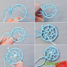 Dream Catcher Patterns Step By Step How to Make Simple Friendship Bracelet Decorated with Dream 49