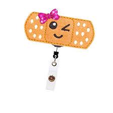 YOROYAL Retractable Bandaid Badge Reel with ... - Amazon.com