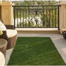 ottomanson garden grass collection 3 ft x 6 ft artificial grass synthetic lawn turf indoor outdoor runner rug g800 3x6 the home depot