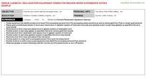 oliver athleticresume chemical operator resume sample chemical    chemical reclamation equipment operator resume operator resume chemical operator resume sample   oliver athleticresume chemical operator resume