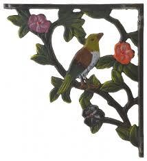 decorative cast iron wall shelf bracket