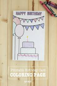 Happy birthday colorful printable birth day cards. Birthday Coloring Pages