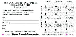 Calendar Raffle Template Calendar Raffle Fundraiser Template Fundraising Lottery Free