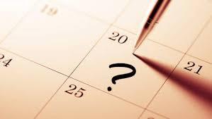 Agenda Setting Closeup Of A Personal Agenda Setting An Important Date Written