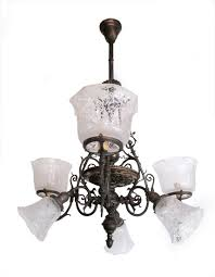 gas electric chandelier