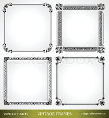 vine frames set calligraphic victorian ornamental photo frames retro design elements and page decoration decor for old style books greetings and