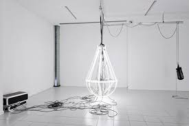 banks violette untitled empire 2008 aluminium hardware electrical wiring
