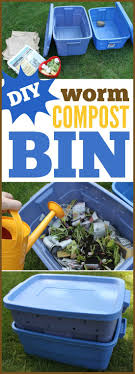 create your own worm compost bin compost garden