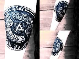 сделать тату дота 2 альянс Alliance Dota 2 в блэкворке с элементами