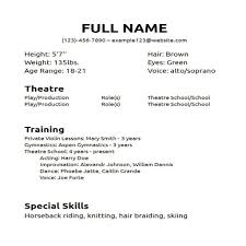 Outstanding Technical Theatre Resume Template Adornment Resume