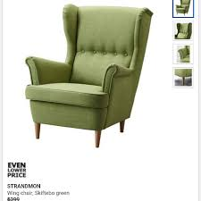 ikea strandmon wing chair and foot stool home furniture on carou