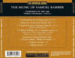 music of samuel barber vladimir golschmann songs reviews  music of samuel barber music of samuel barber