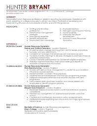 Sample Hr Resumes Experience Human Resources Manager Resume Samples Hr Examples Images Sample