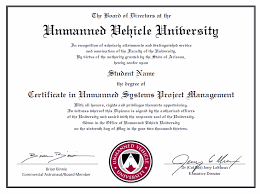 university degree certificate sample professional certificate unmanned vehicle university