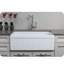 photo of a fluted front farmhouse sink