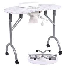 folding portable vented manicure table nail desk salon spa with fan carry bag nail table lamp uk nail table lamp nail table lamp for