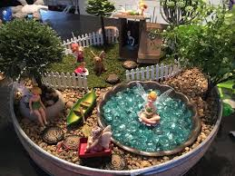 fairy garden in a serving tray easy to