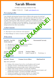 Curriculum Vitae Examples Delectable 48 Example Of A Good Curriculum Vitae Gcsemaths Revision