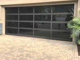 modern glass garage doors at factory