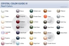 Pearl Color Chart Swarovski Crystal Pearl Color Chart The Crafty Black Cat