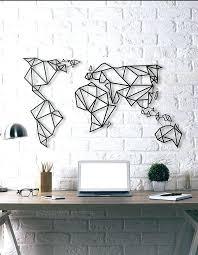 world map metal wall art uk