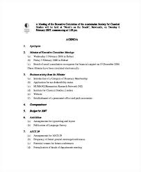 Committee Meeting Agenda Template Board Executive Sample Outline ...