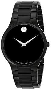 movado men s 0606594 serio black pvd watch movado amazon ca watches